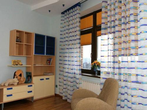 Тюль и шторы плиссе для детской