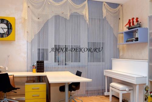 Легкие шторы для детской